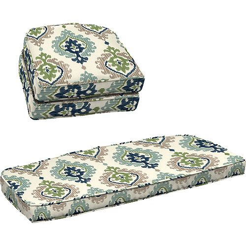 Exceptionnel Better Homes And Gardens 3 Piece Wicker Cushion Set, Ikat Medallion   To  Update