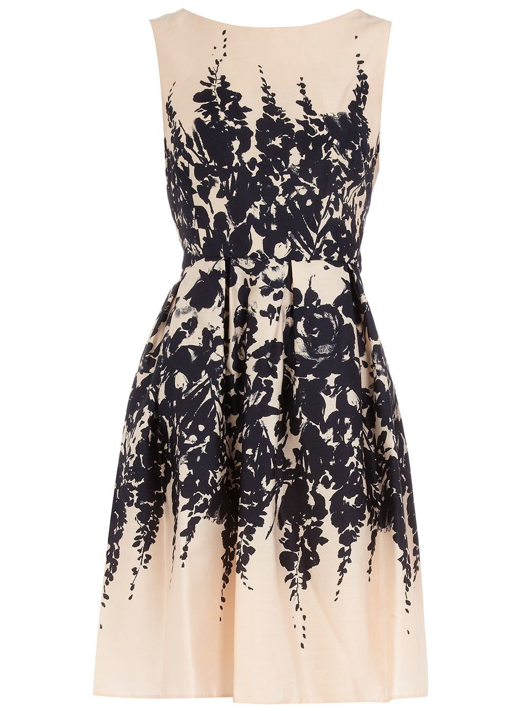 Dorothy Perkins Nude floral border prom dress $69.00