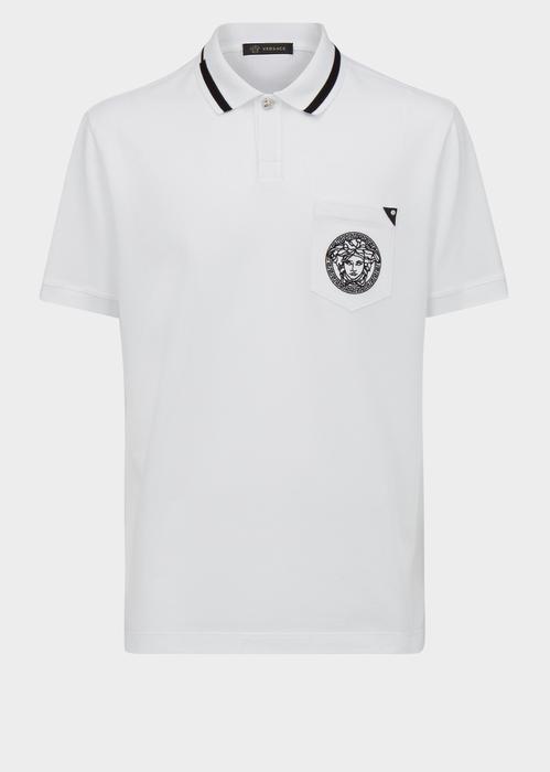 54544ed3 VERSACE Medusa Pocket Polo Shirt. #versace #cloth #medusa pocket polo shirt