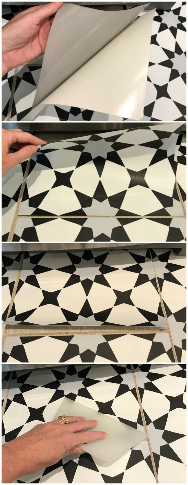 Get the Cement Tile Look for Less Peel & Stick Vinyl