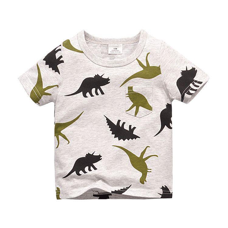 Kids Dinosaur Tshirt   Kids outfits, Boys t shirts, Summer ...