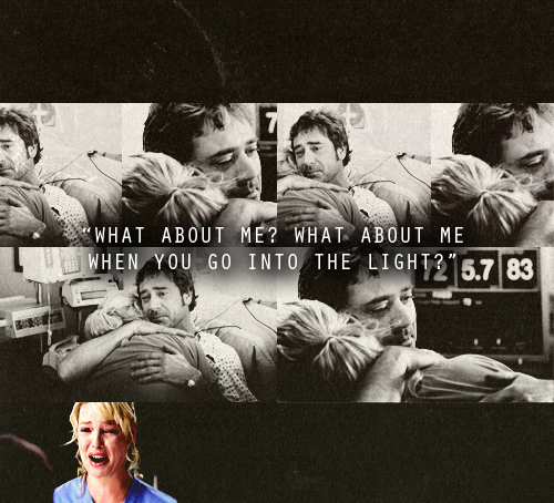 Saddest thing EVER. I do cry a little over sad tv/movies. NO show has ever made me cry as often as Grey's and the Denny/Izzie story had me sobbing hysterically :|  (I cry almost as much every time I rewatch it, it is that well acted <3 <3 )