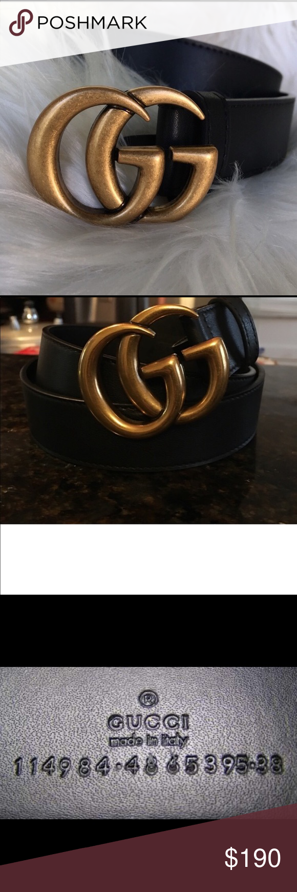 e32772ed2 Gucci Marmont belt! Brand new never worn! Authentic! Size 100 , big GG.  Before purchasing comment and let me know Gucci Accessories Belts
