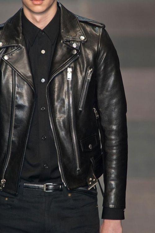 d74347cadc1 SLP leather FW 14 | Saint Laurent | Riders jacket, Leather, Fashion