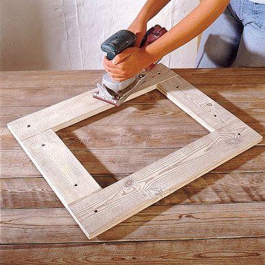 bilderrahmen basteln bilderrahmen holz und holzarbeiten. Black Bedroom Furniture Sets. Home Design Ideas