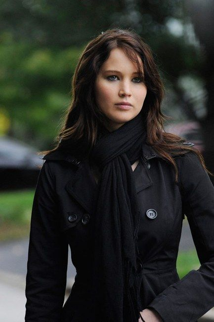 Tiffany (Silver Linings Playbook) and Bebe Contrast Trim Trench Coat