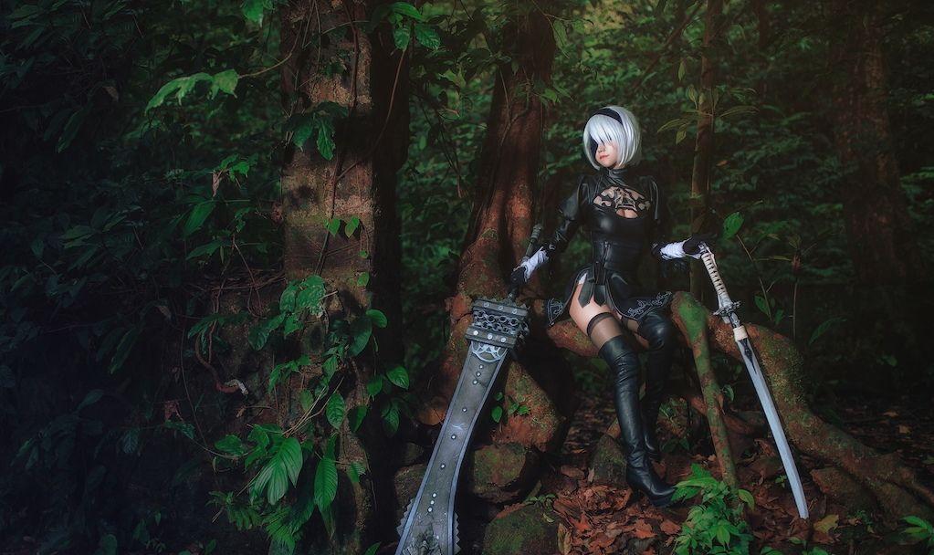 Kumiko Kuko Nier 2b Wallpaper Engine Free Cosplay Moonlight