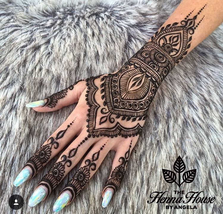 Beautiful Henna Tattoo Designs For Your Wrist: Beautiful Henna Design Mainly For A Wedding …