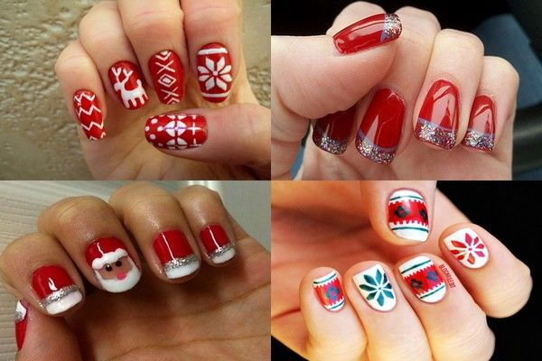 Simple christmas nail design ideas nail care tips pinterest simple christmas nail design ideas prinsesfo Images