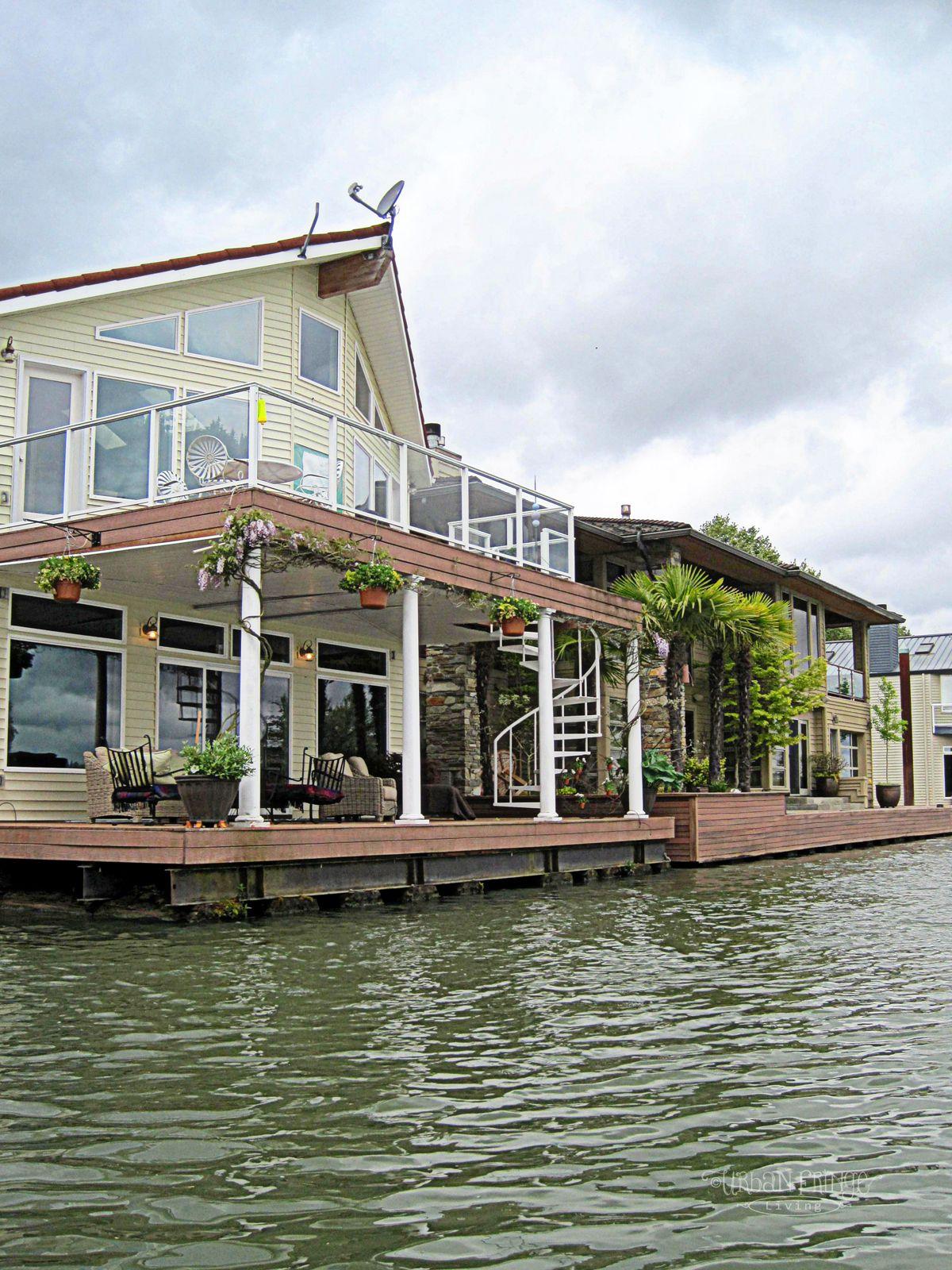 the willamette river barges and boat houses urban fringe living rh pinterest com