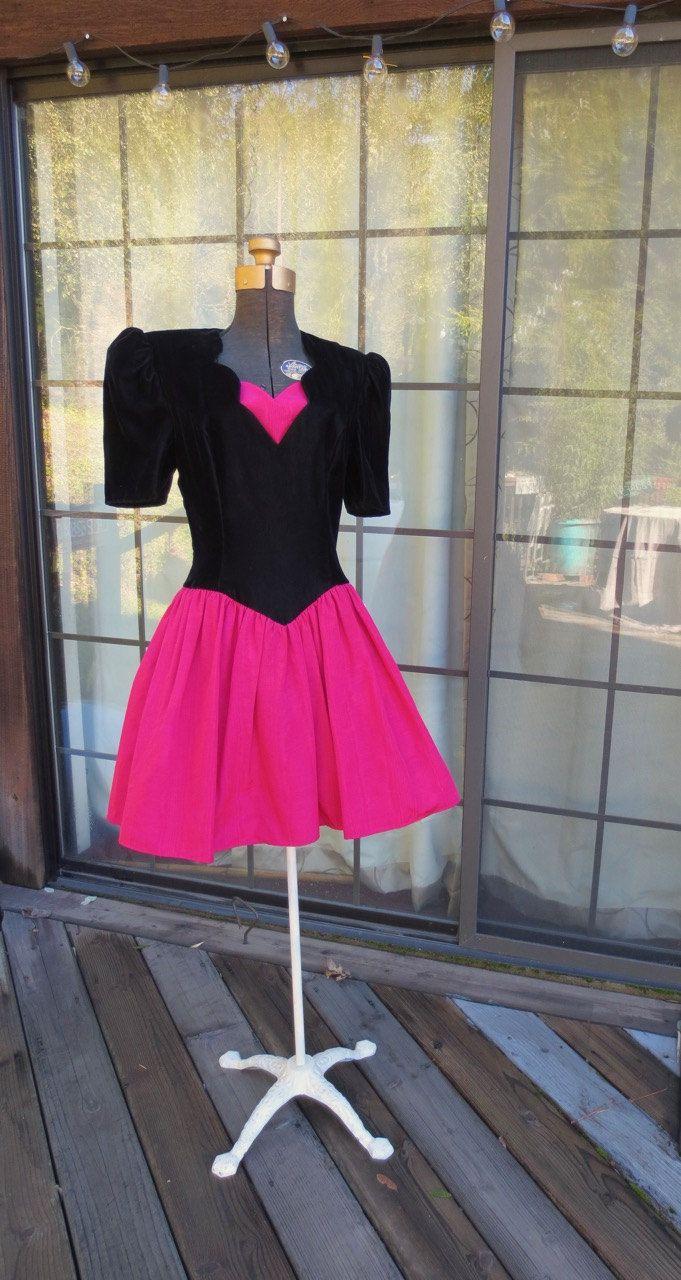 90s Valentines Dress, Jessica McClintock short bubble dress, Prom ...