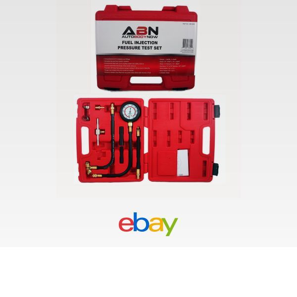 ABN Fuel Injection Pressure Test Kit Fittings and Instructions Comprehensive Universal Set with Improved Flex Hoses