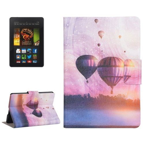 For+Kindle+Paperwhite+2+Balloon+Pattern+Leather+Case+with+Holder+&+Card+Slots