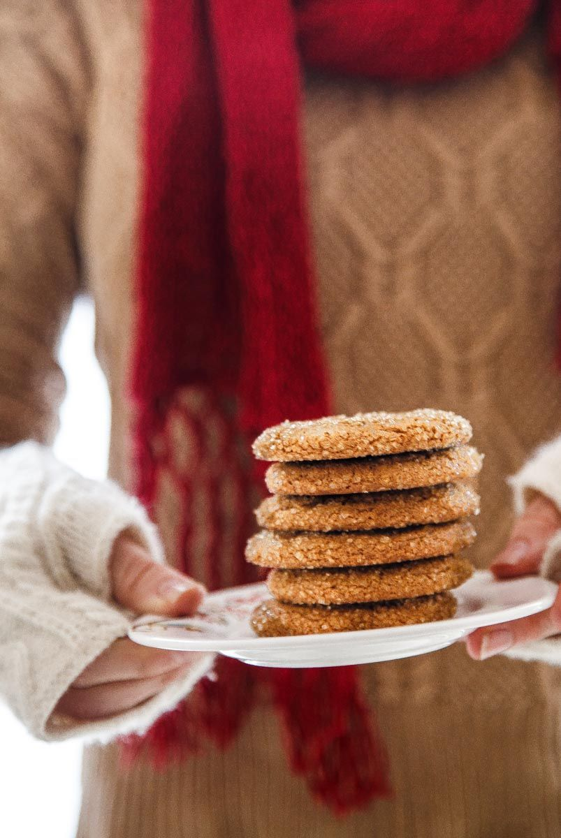 Old Fashioned Chewy Molasses Cookies @dessertfortwo | dessert for ...