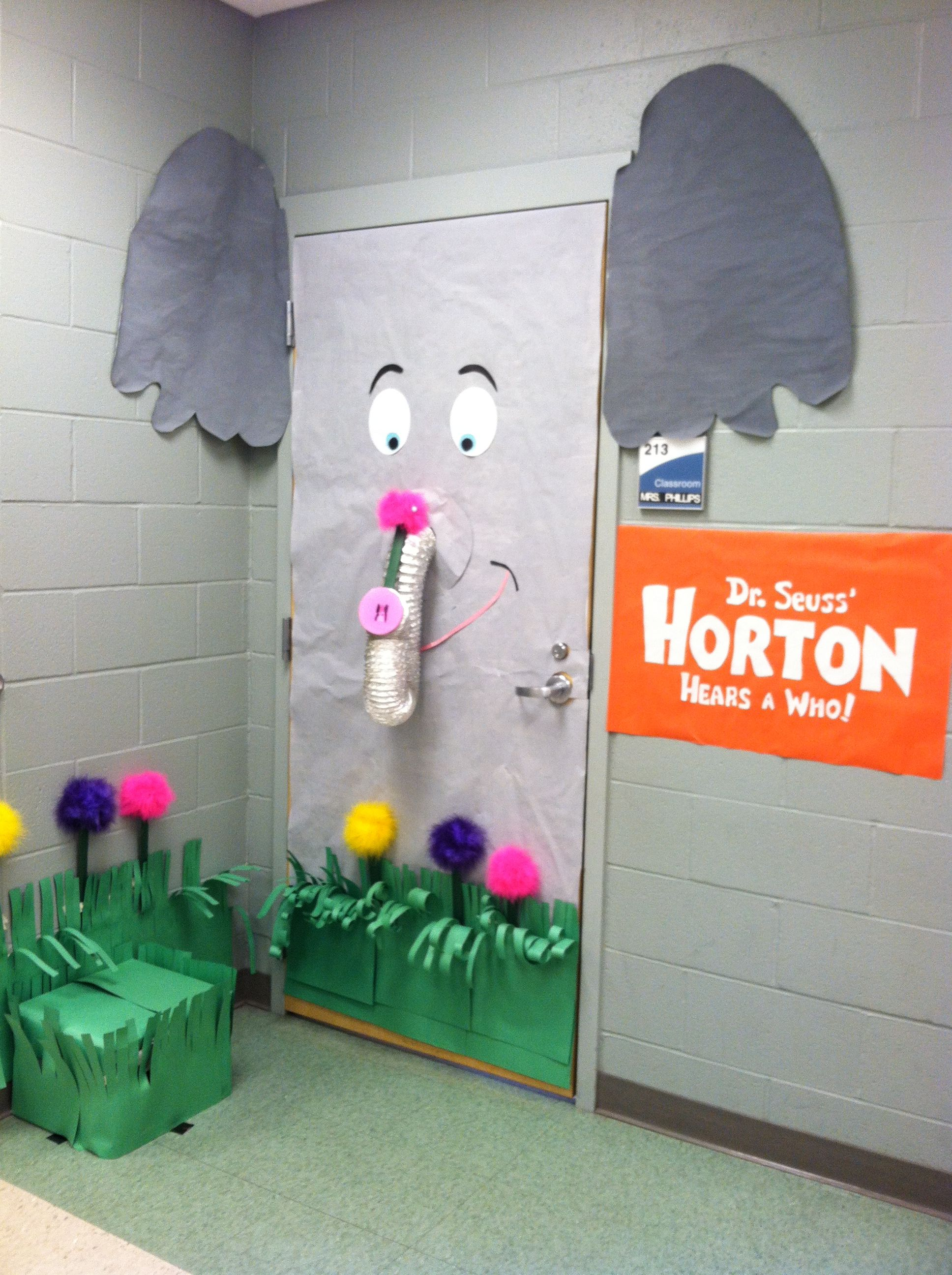 horton hears a who craft ideas my quot horton hears a who quot door for our dr seuss week door 7768