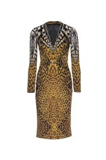 Roberto Cavalli Leopard Printed Stretch Dress - Lyst  ad9914668