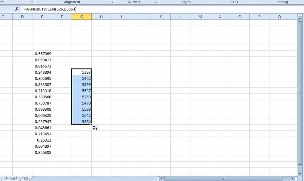 How to use random numbers in excel spreadsheets tip