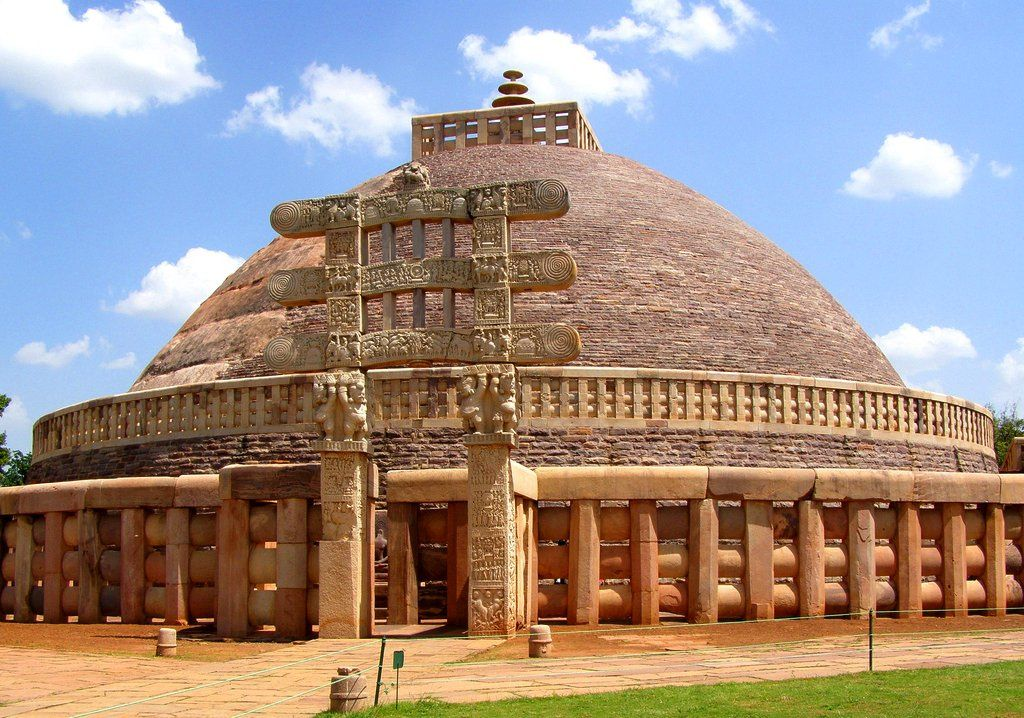 sanchi stupa Sanchi is a world heritage site it has stupas which contain relics of the buddha the main stupa has four gateways there are stone decorations depicting incidents.