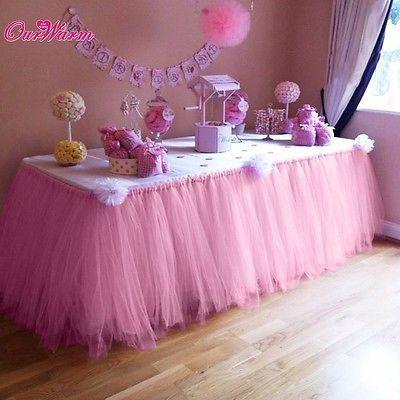 be13ab9a4 Falda de Tul Tutú De Mesa Personalizadas Para Baby Shower Decoración ...