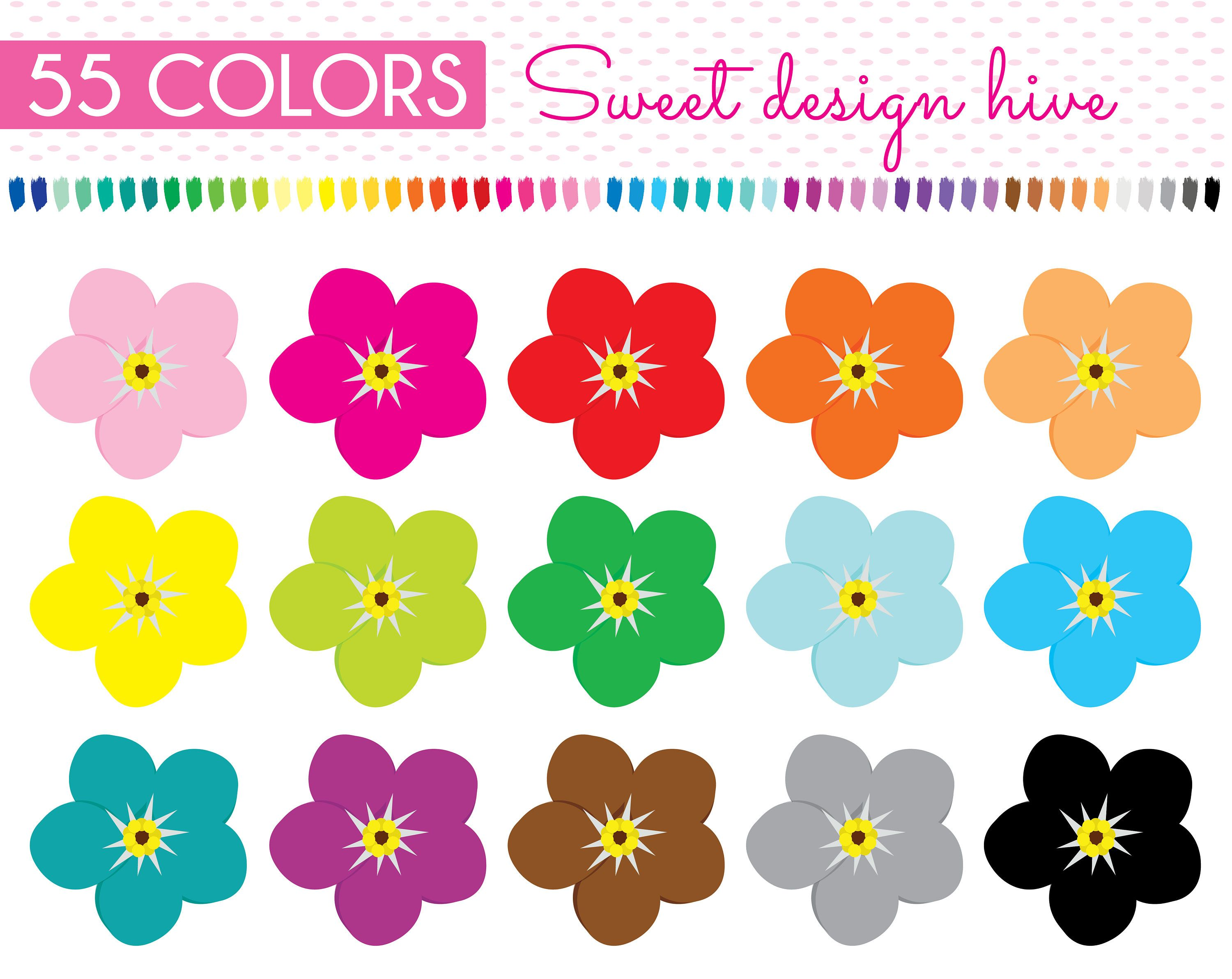 FLOWER Forget me not clipart, flower clipart, Forget me ...