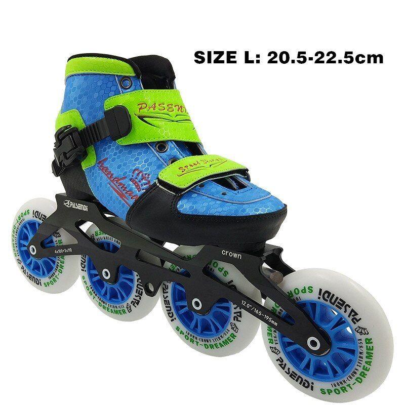 Kid S Adjustable Challenge 3 Or 4 Wheel Inline Speed Skate Package