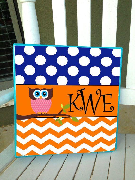 Personalized Owl Notebook Binder Insert 3 Ring Binder Folder School