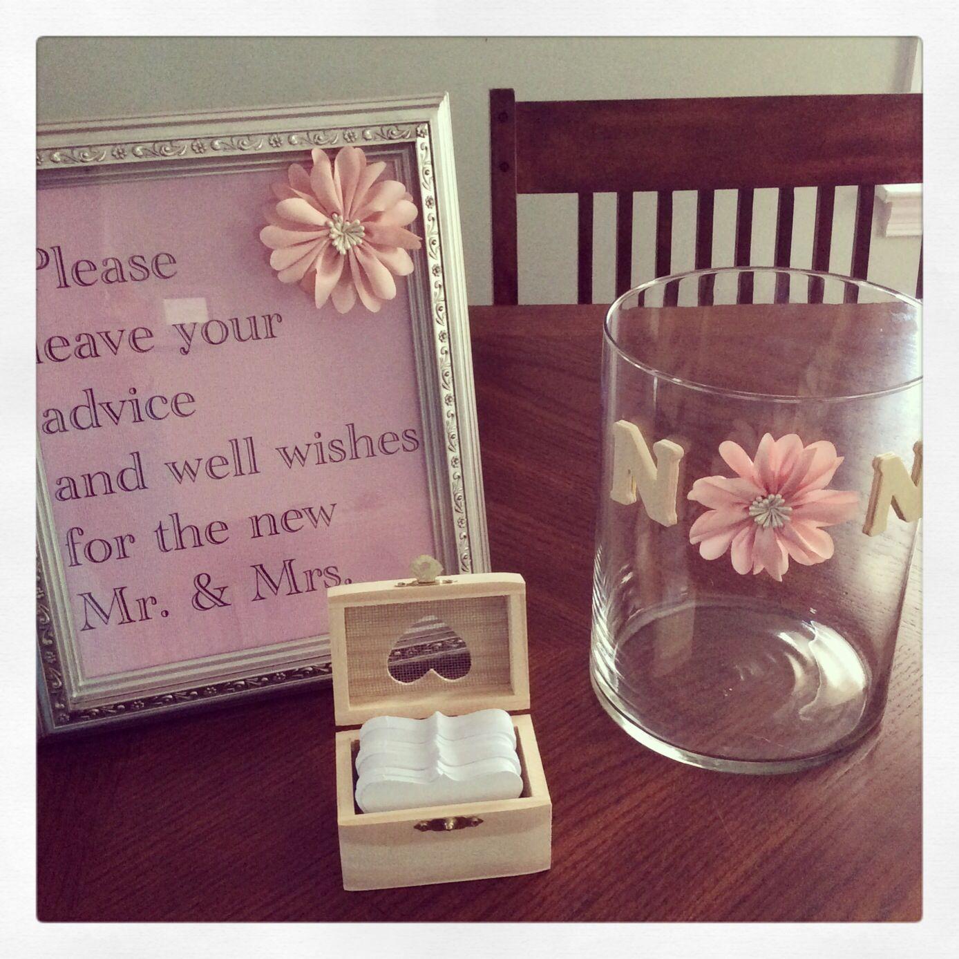 Advice Jar For Bridal Shower Bridal Shower Advice Wedding Advice Jar Wedding Jars