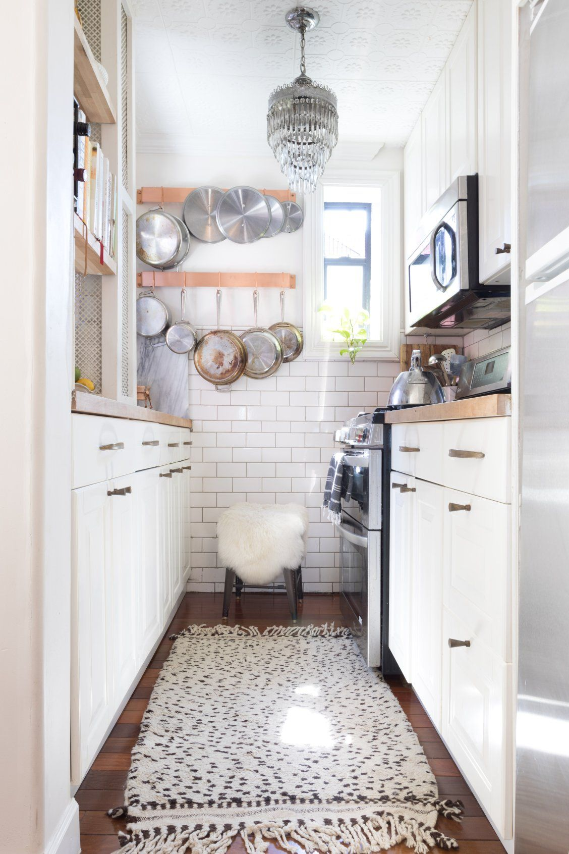 This kitchen remodel feels much bigger than square feet