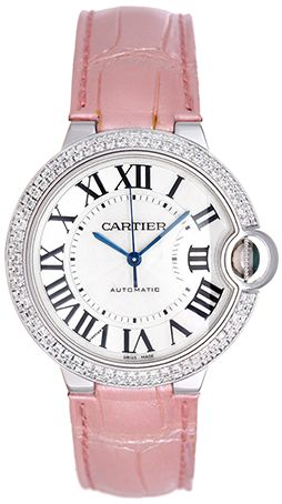 71ab0ba7415b Cartier Ballon Bleu Midsize 18k White Gold   Diamond Watch WE9600651 ...