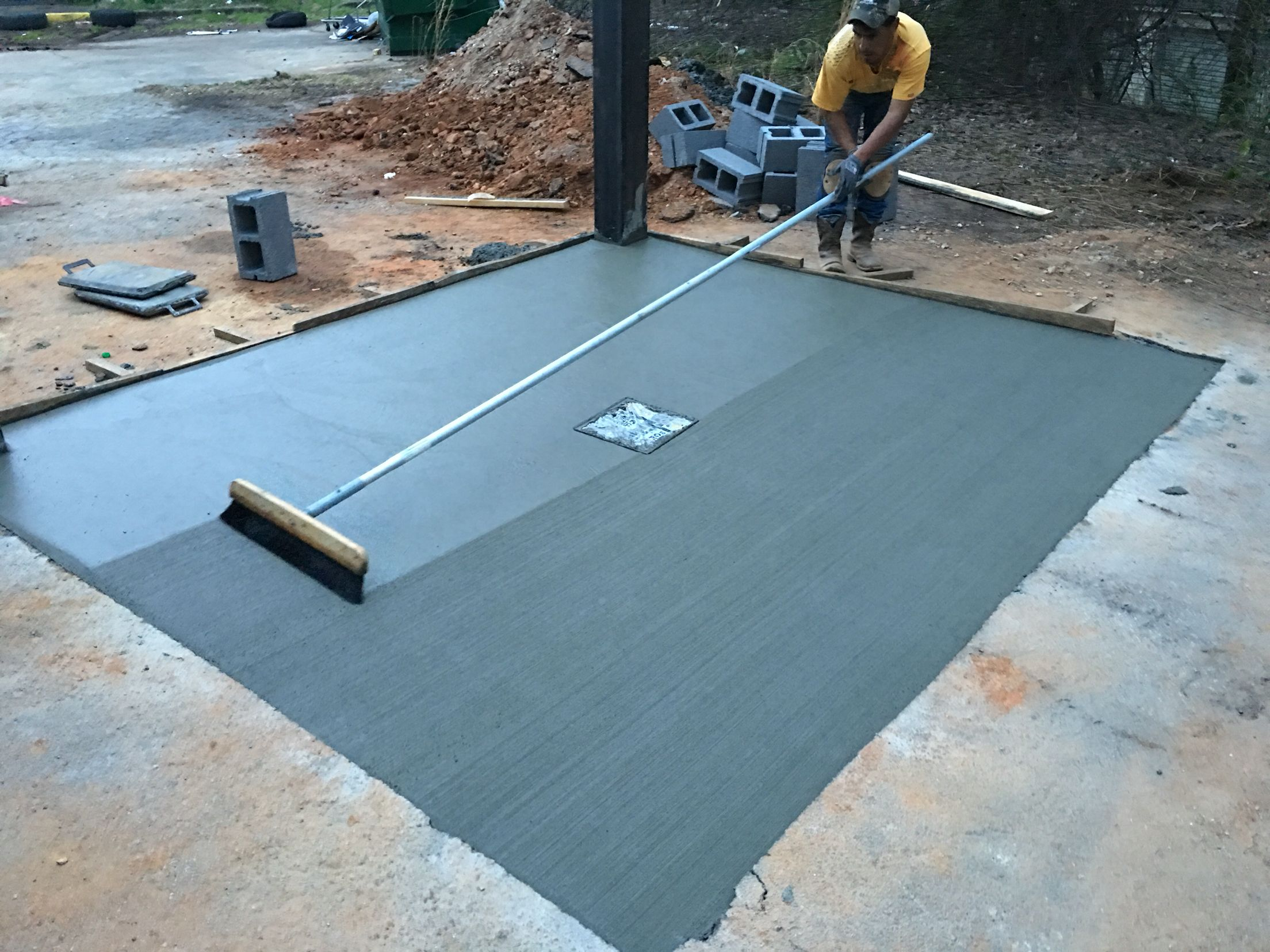Concrete #slab for set a #wall for #dumpster #containers   concrete ...