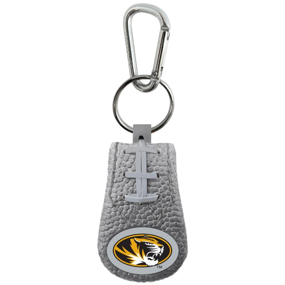 Missouri Tigers Gray Football Leather Bracelet