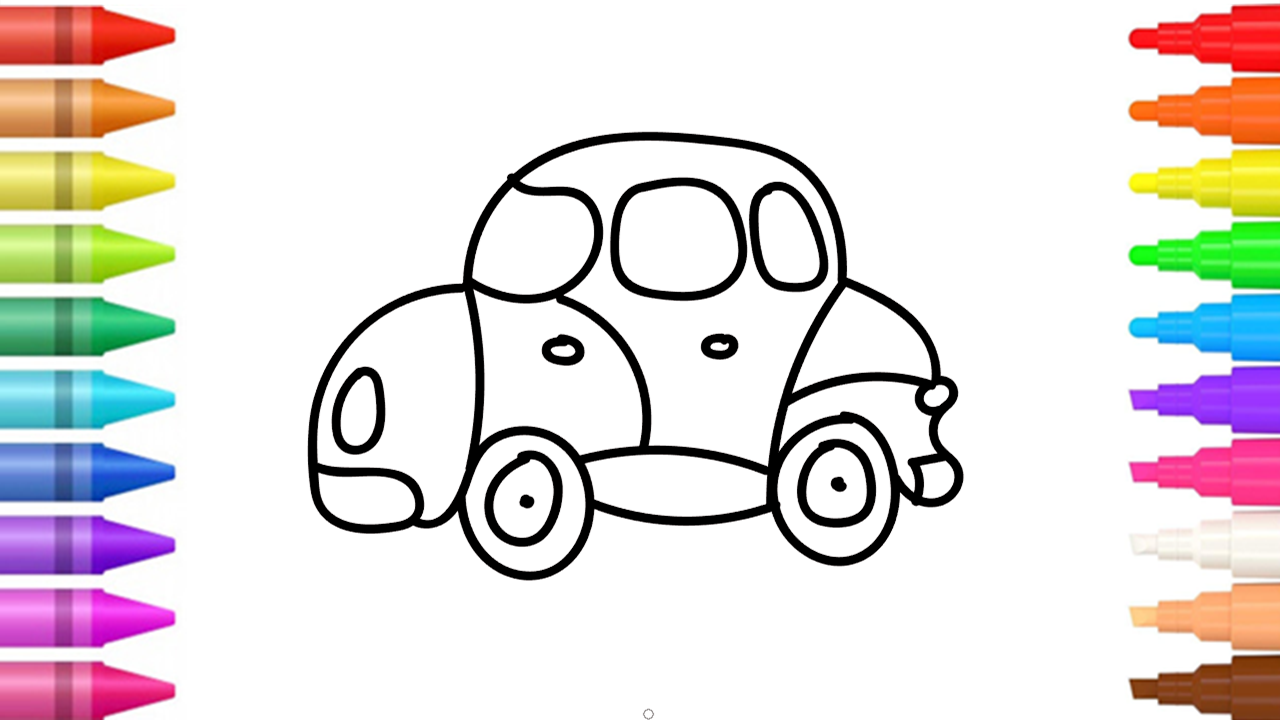 Painting Coloring And Drawing Small Car Learn How To Color Draw