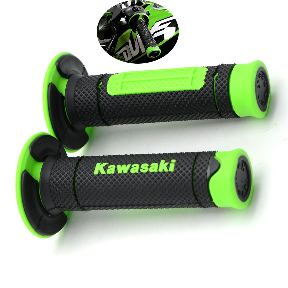 Motorcycle Dirt Bike Rubber Handlebar Grips For Kawasaki Klx110