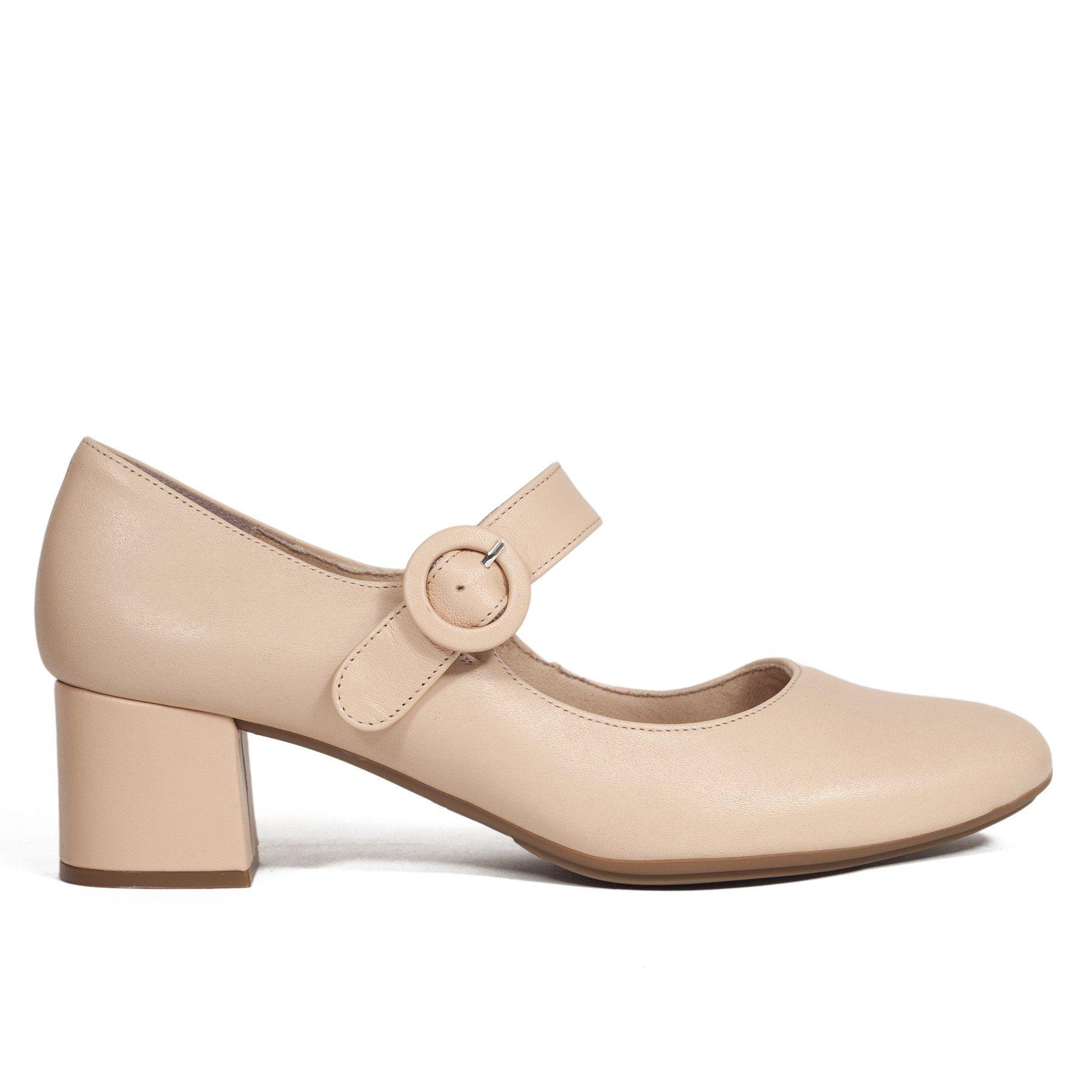 Zapato Mujer Merceditas BEIGE de piel – miMaO Hecho en España – miMaO  ShopOnline 0e89bfb472ef