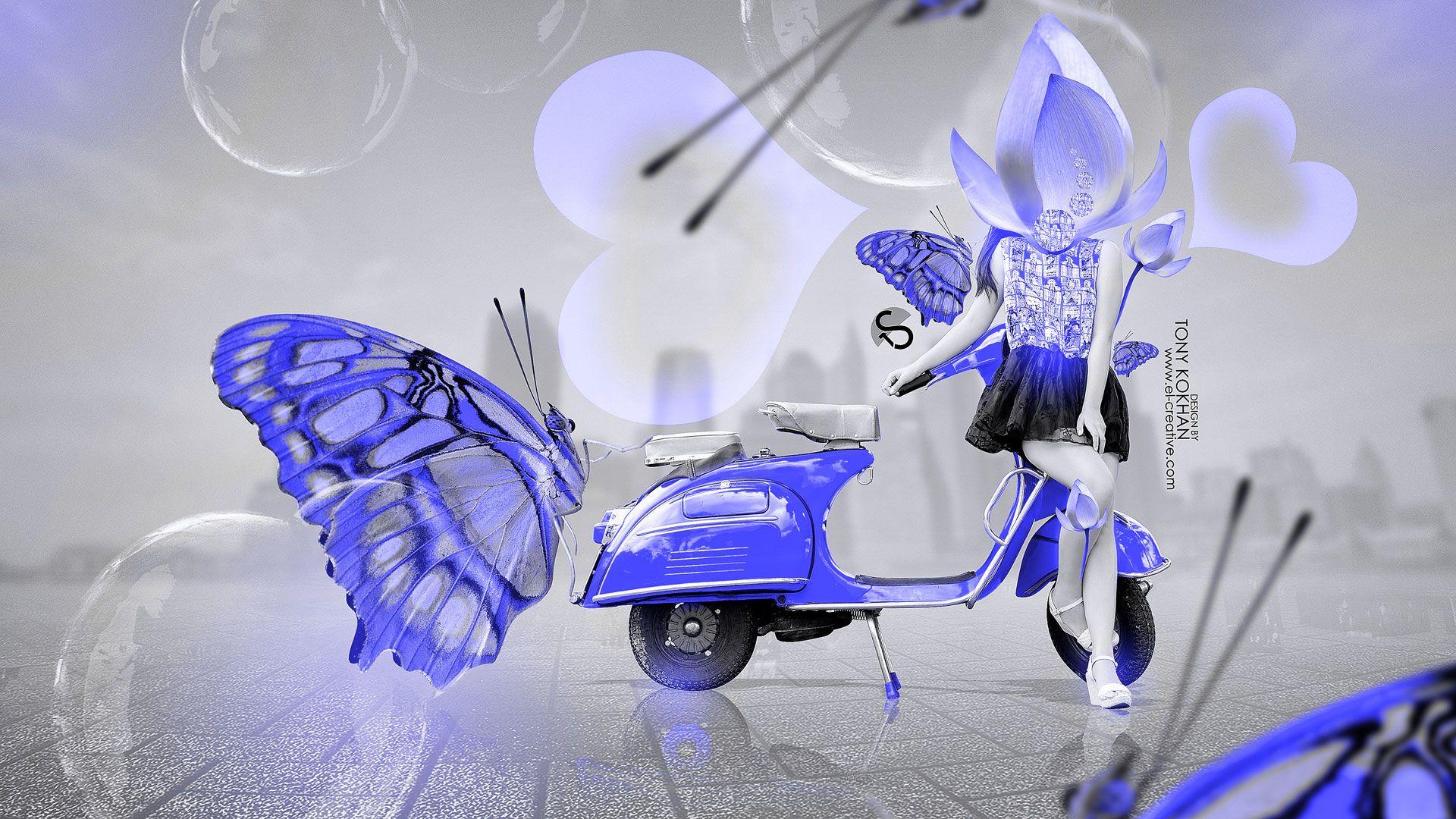 Neon Butterfly Backgrounds | Smart Fantasy Flowers Heart Plastic Car 2014  Greenu2026