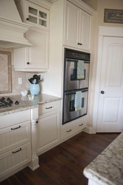 Knotty Alder kitchen painted white
