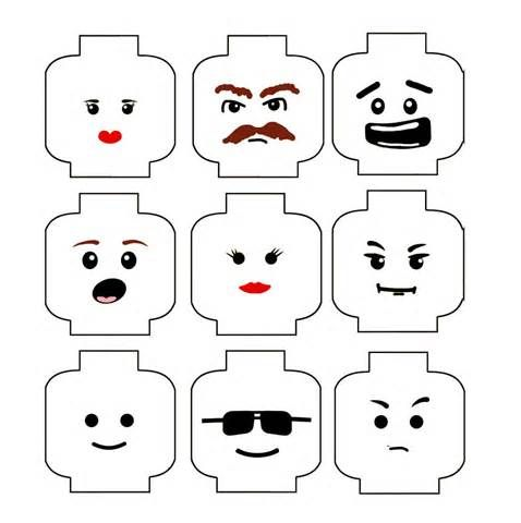 Lego Head Coloring Coloring Pages Lego Birthday Lego Faces