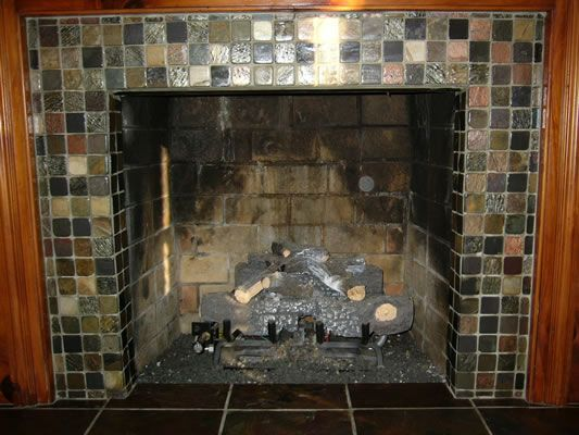 Home Design And Interior Design Gallery Of Slate Tiles Fireplace Surrounds  Ideas