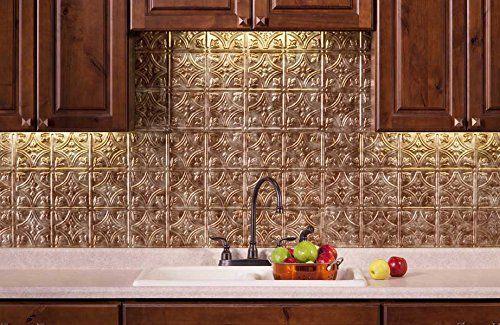 AmazonSmile: Fasade Easy Installation Backsplash 18inx24in Traditional 1 Bermuda Bronze Backsplash Panel for Kitchen and Bathrooms: Home Improvement