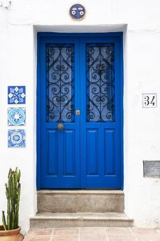 'Made in Spain Collection - Dark Blue Front Door' Photographic Print - Philippe Hugonnard | Art.com