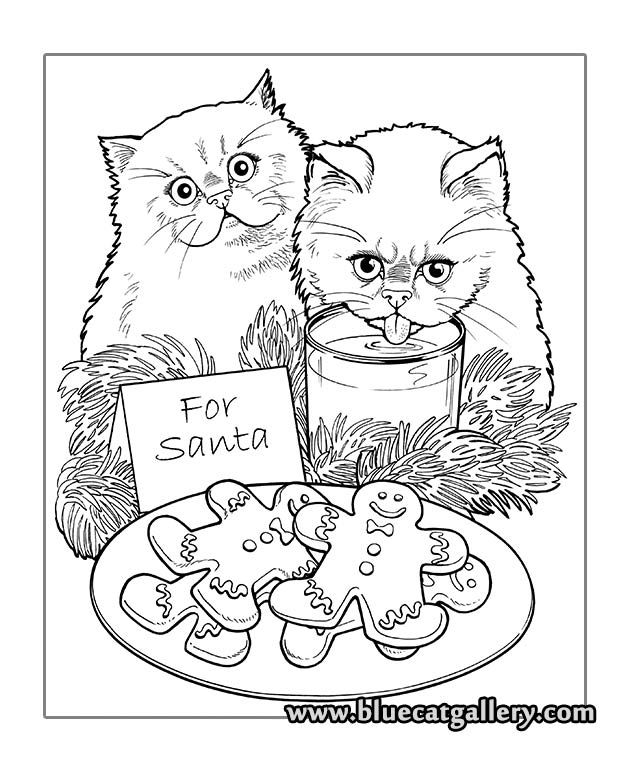 7d72105db7fbec7c59fbe2538ef9bcbd » Christmas Cat Coloring Pages