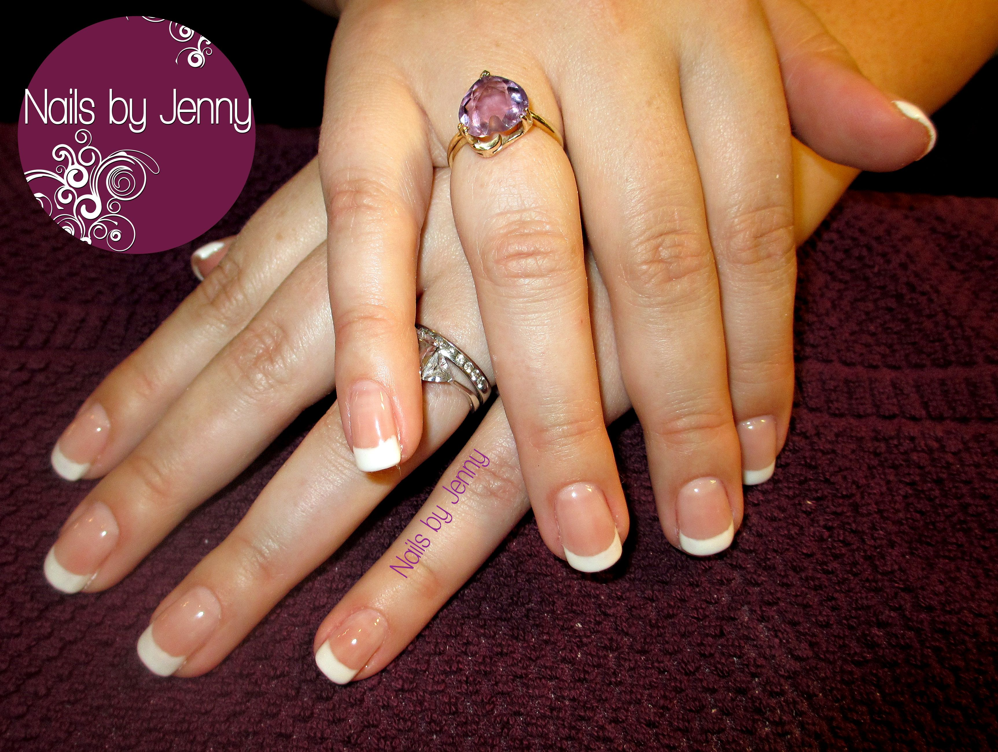 Gel Fill - French   Nails by Jenny   Pinterest