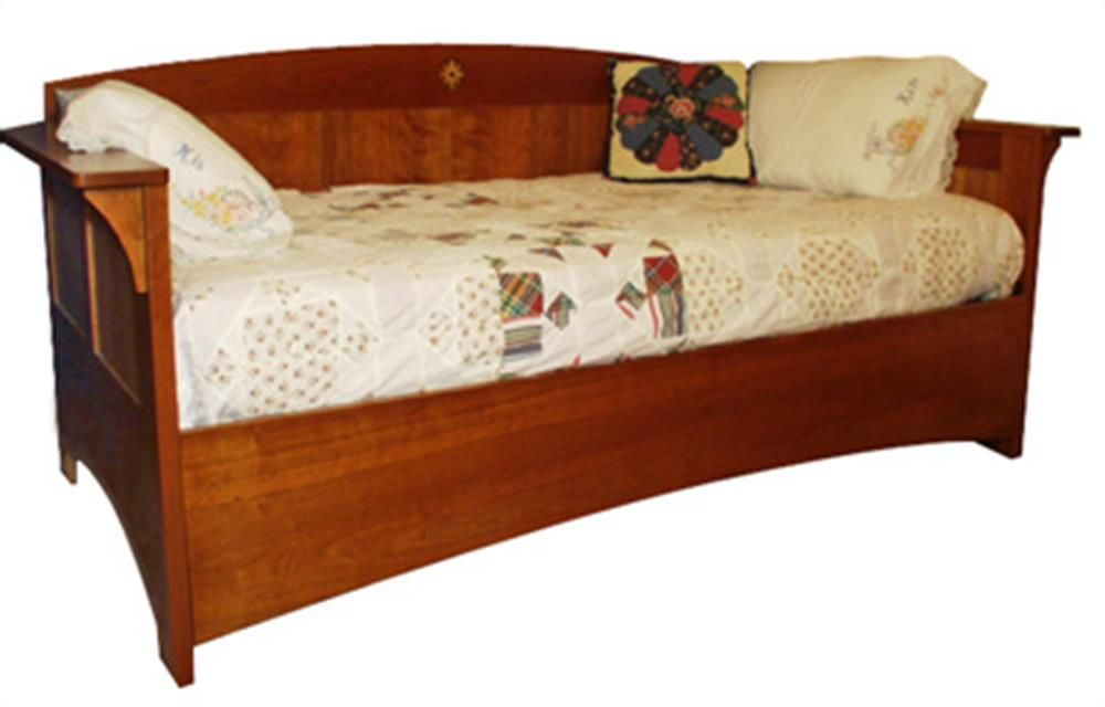 Arts And Crafts Mission Day Bed Woodworking Plan From Wood Magazine Bed Woodworking Plans Woodworking Plan Craftsman Furniture