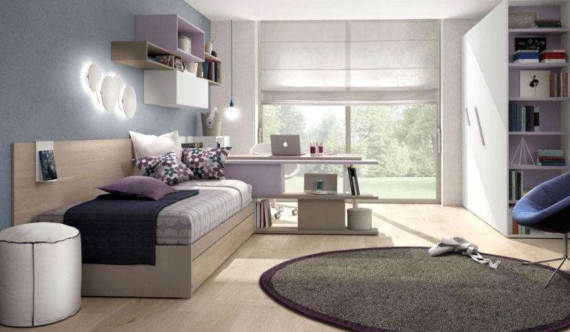 Awesome Bett mit Bettkaste freistehendes Regalsystem und Kleiderschrank im M dchenzimmer