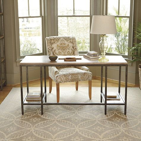 Durham Desk By Ballard Design Great Weathered Wood And Iron
