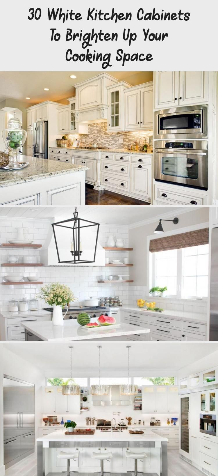 30 White Kitchen Cabinets To Brighten Up Your Cooking Space Decorations White Modern Kitchen White Kitchen Table Set White Kitchen Cabinets White kitchen cabinet set