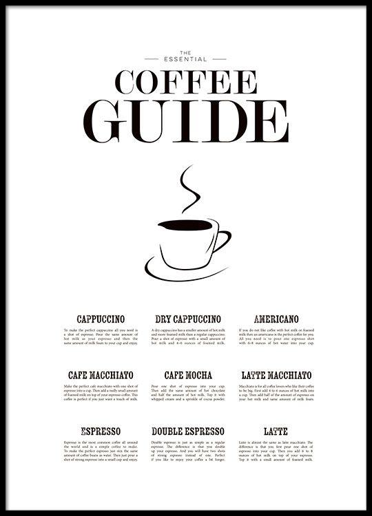 coffee guide - schönes poster für die küche | design | pinterest ... - Poster Für Die Küche