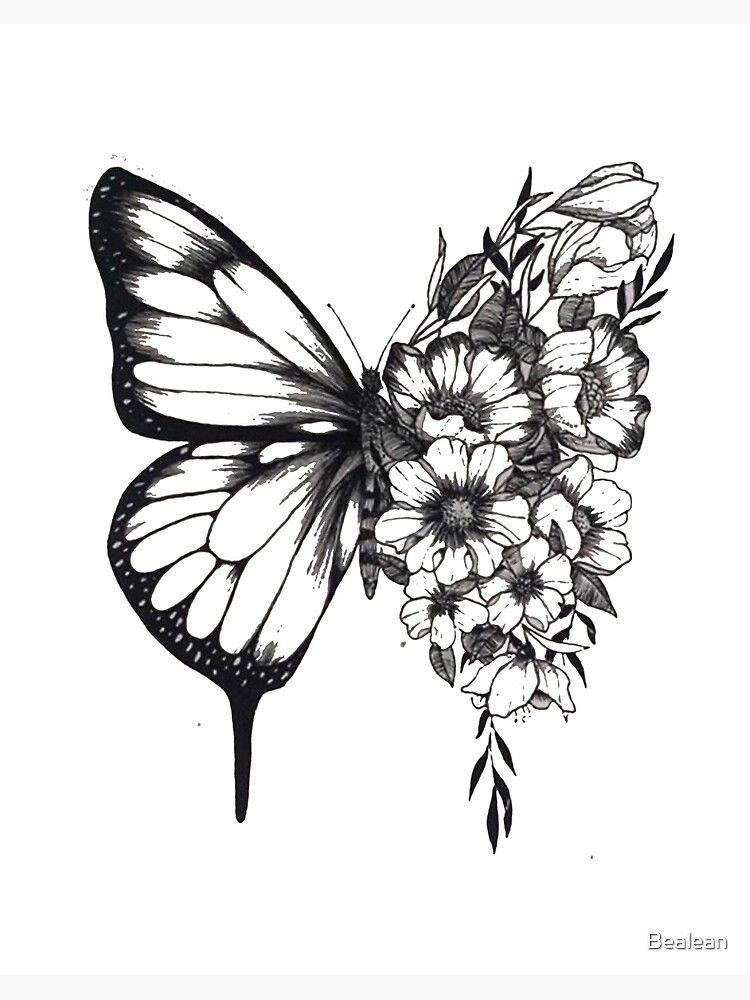 Shawn Mendes butterfly tattoo | Lámina rígida