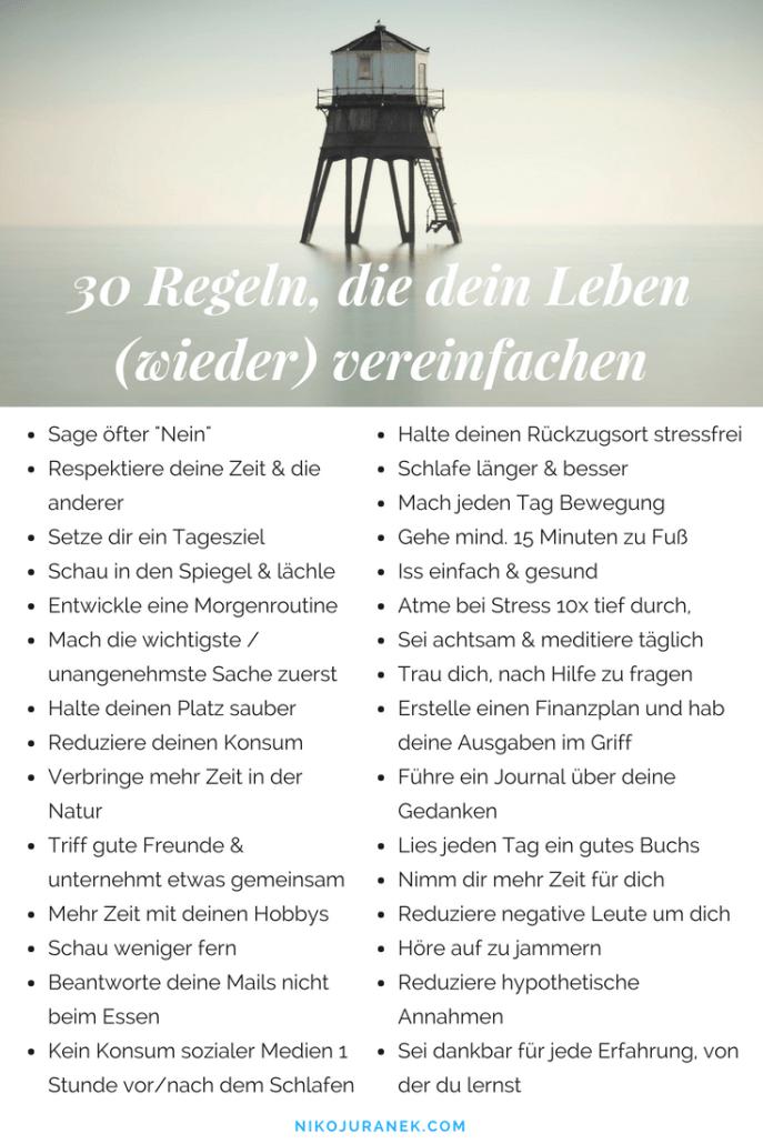 30 Regeln, die dein Leben (wieder) vereinfachen — Soft Skills, Leadership & High Performance Training für Future Leaders   Niko Juranek