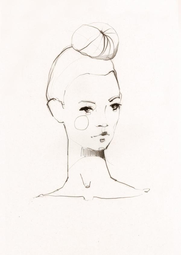 Fashion illustration - stylish fashion sketch // Ekaterina Koroleva